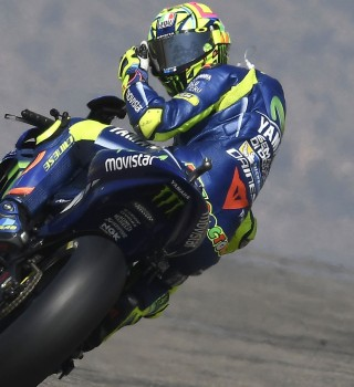 Valentino Rossi at the 2017 GP of Aragon