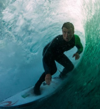 Shot of Gearoid Surfing in Ireland
