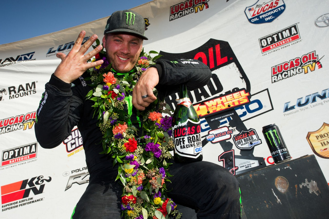 Kyle Leduc won the race and won the Pro 4 championship (4 years in a row, and 5 in the last 6 years).  Jeremy McGrath also won the Pro 2 championship for the year.
