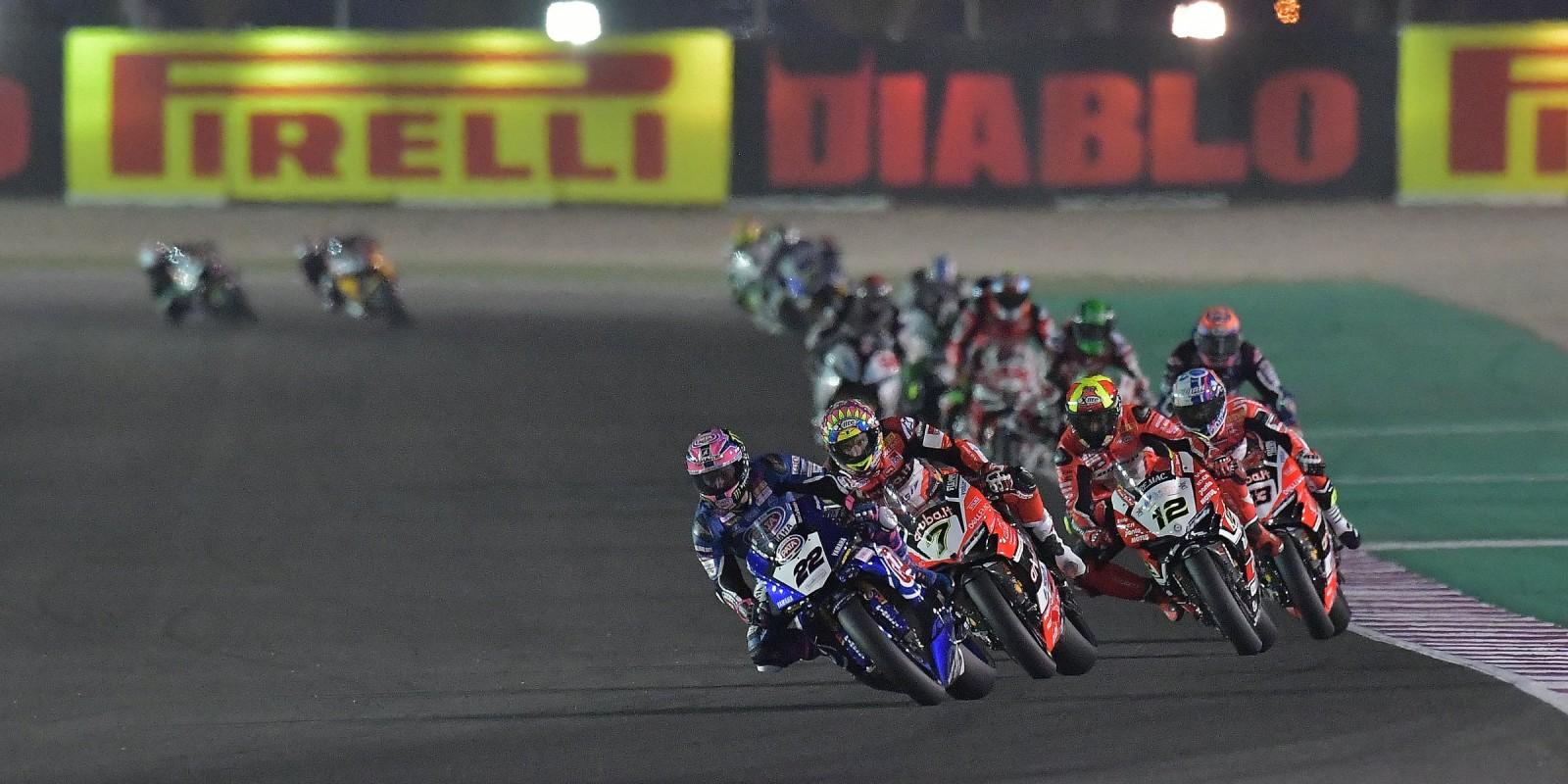 Alex Lowes at the 2017 World Superbike Qatar round