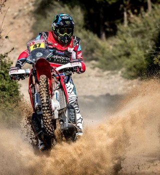 Kevin Benavides at the 2018 Dakar HRC Photoshoot