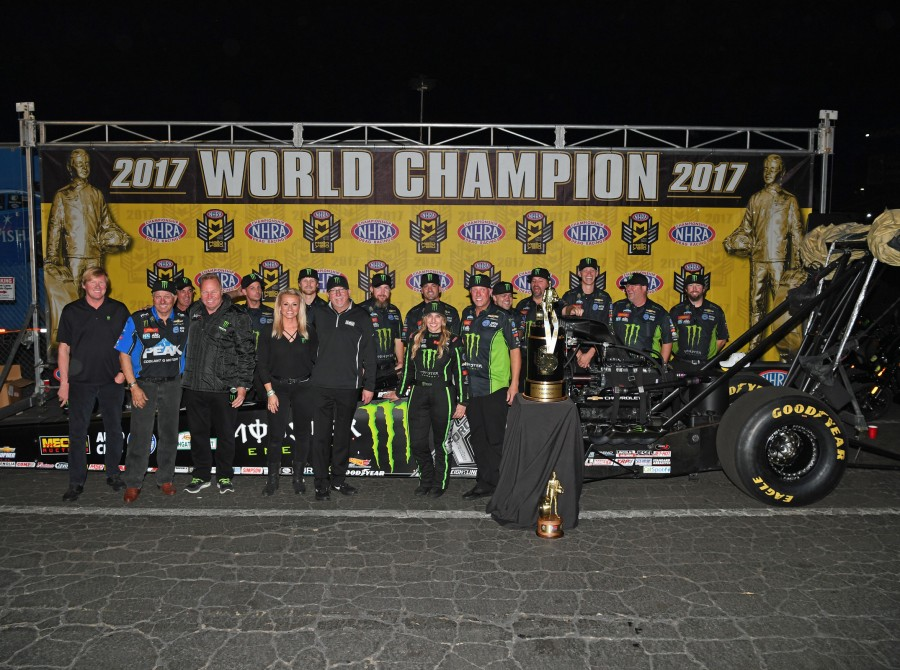 Brittany Force wins the 2017 NHRA Mello Yello Drag Racing Series