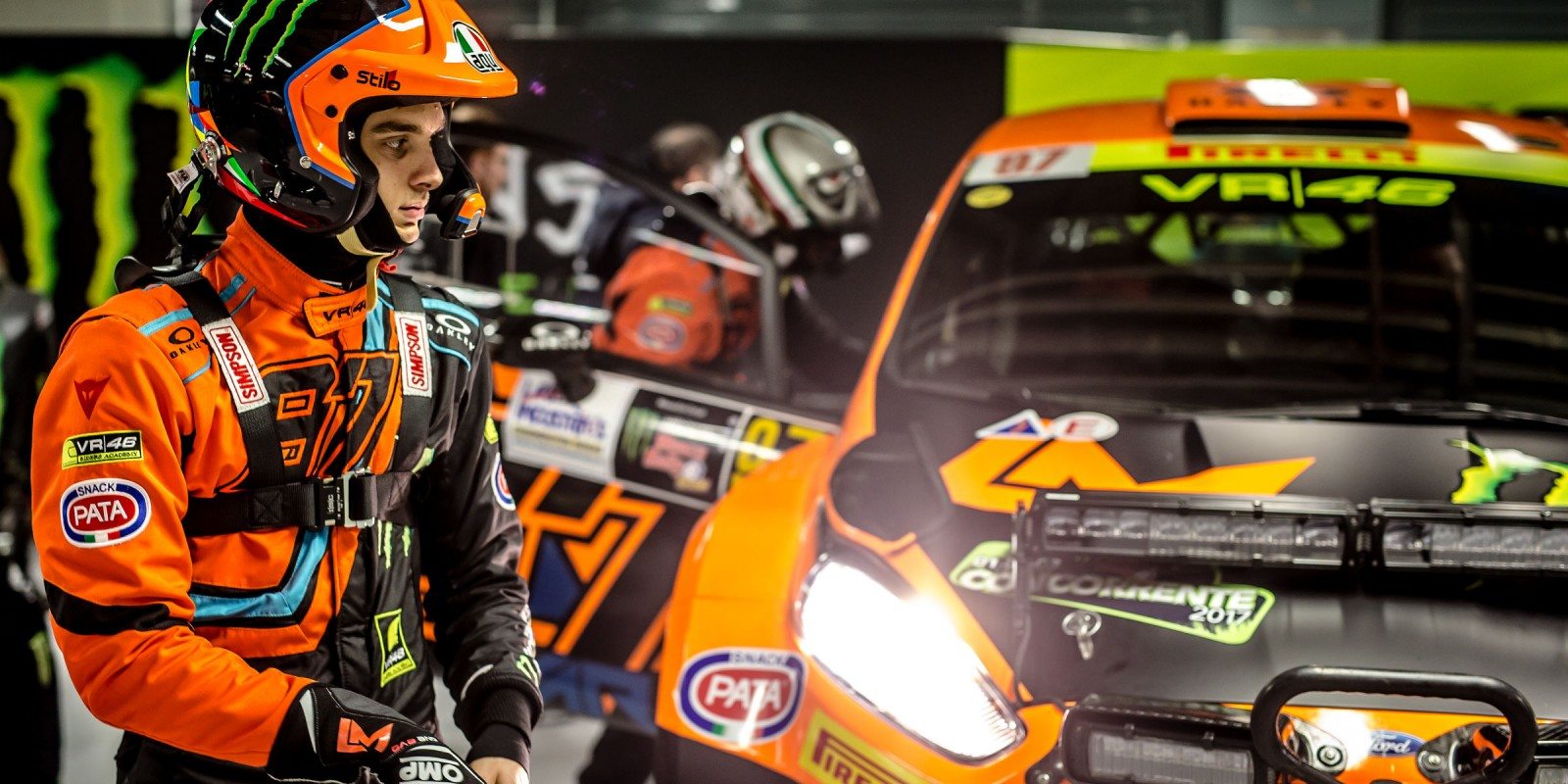 Monster athletes at the Monza Rally show