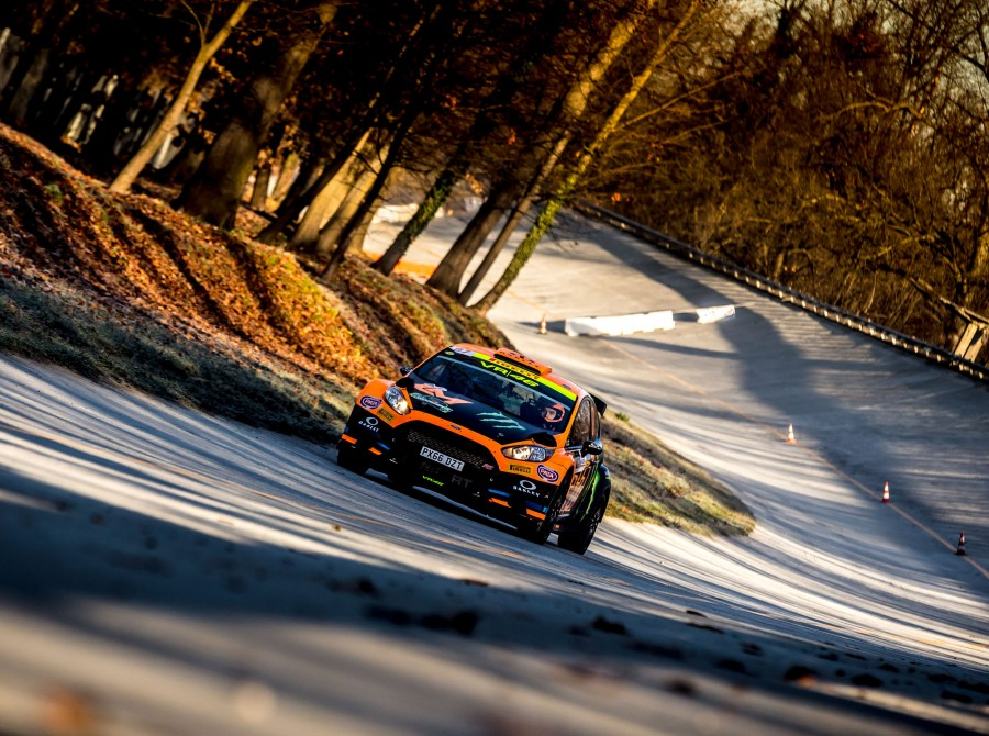 Luca Marini in action at Monza Rally Show 2017