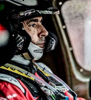Images of Nani Roma on Stage four of the Rally Dakar
