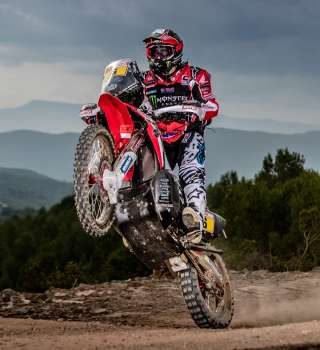 Paolo Goncalves at the 2018 Dakar HRC Photoshoot