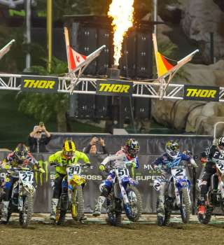 Monster athletes compete at the first stop in the 2018 SX season