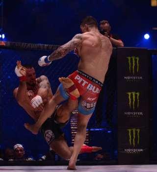 KSW 41 at Spodek in Katowice, Poland - fight / action picture - Roberto Soldic v Borys Mankowski