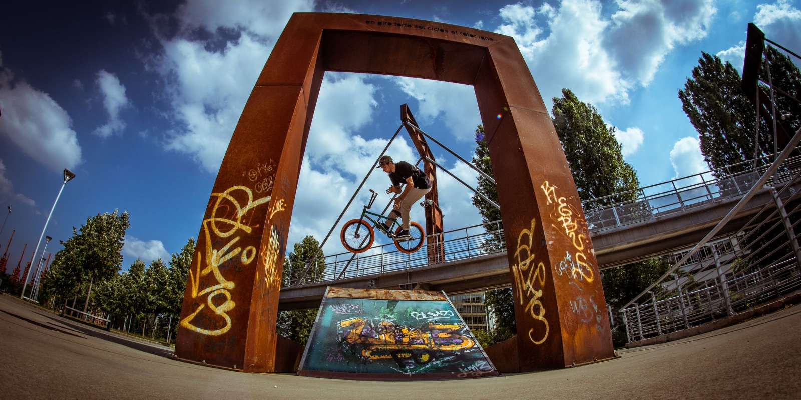 Photos of Monster Energy BMX rider Jason Eustathiou