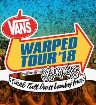 Vans Warped tour ticket announcement admats