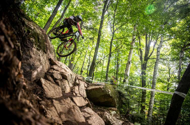 Monster athletes compete in the 2018 UCI World Cup in Canada