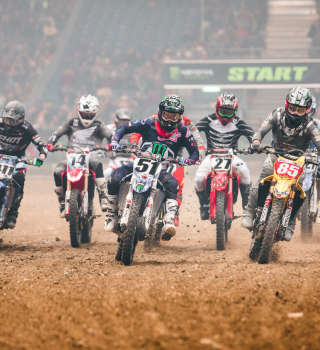 Action at the 2018 Geneva Supercross