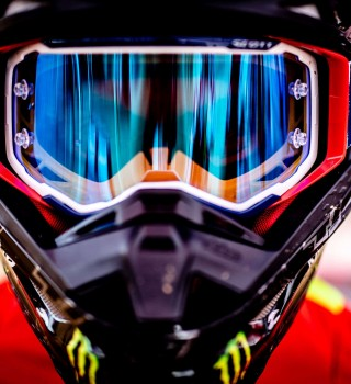 Kevin Benavides at the 2019 Dakar HRC Shoot