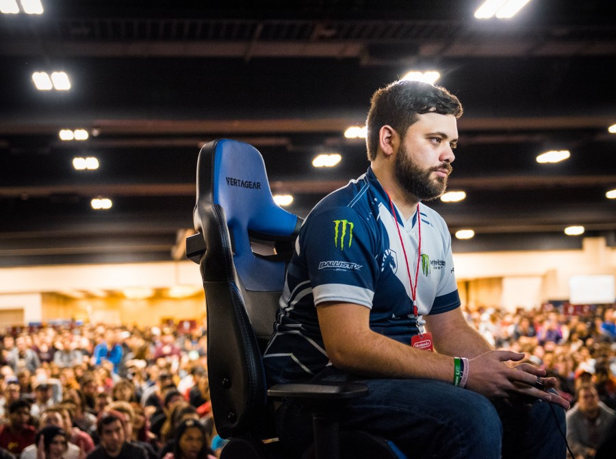 Photos of Team Liquid Super Smash Brothers Melee and Super Smash Brothers Ultimate players playing at Genesis 6 in Oakland, CA at the Paramount Theater. Hungrybox won first place in Melee Singles and Salem and Dark Wizzy won first place in Ultimate Double