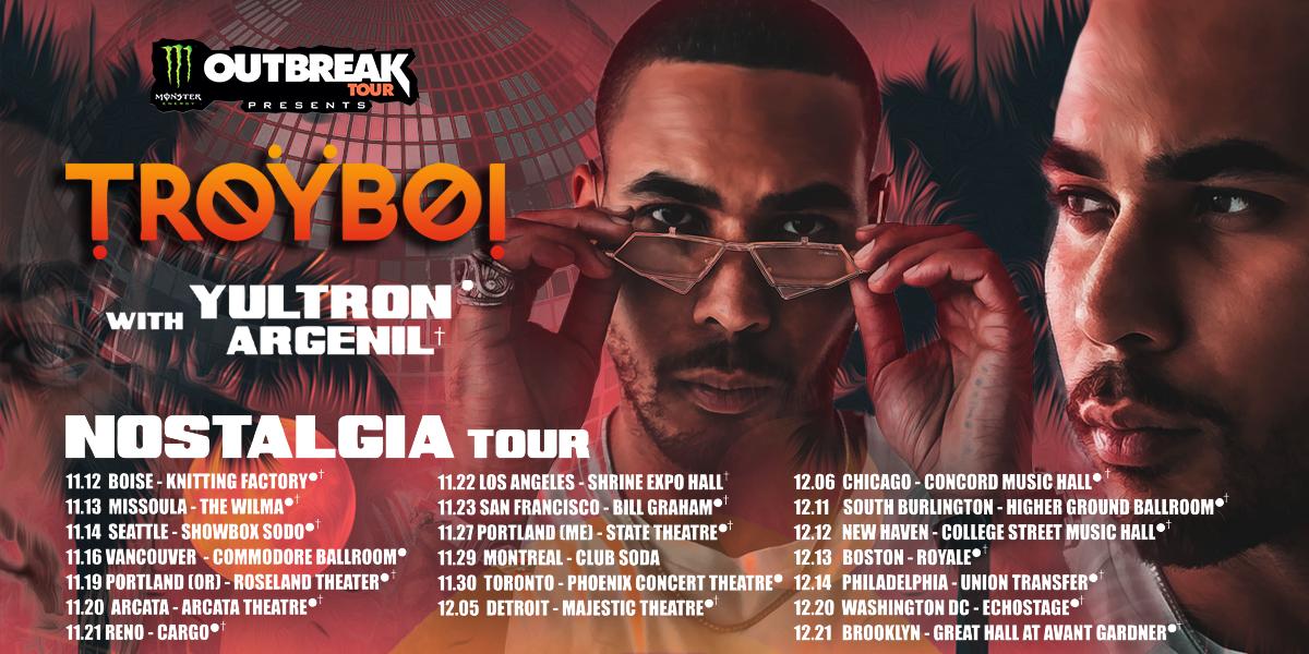 Troyboi admat resizes for Monster Energy outbreak tour