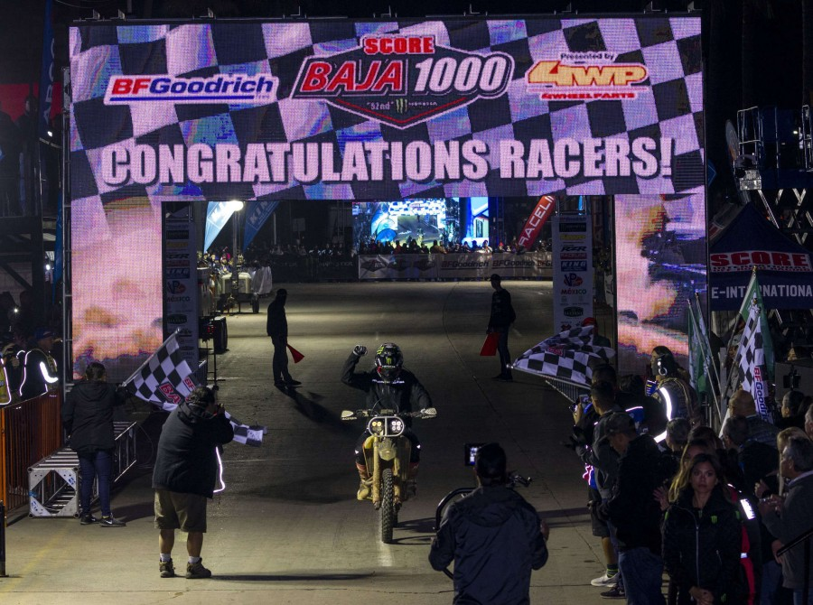Casey Currie and Justin Morgan Baja 1000 winners
