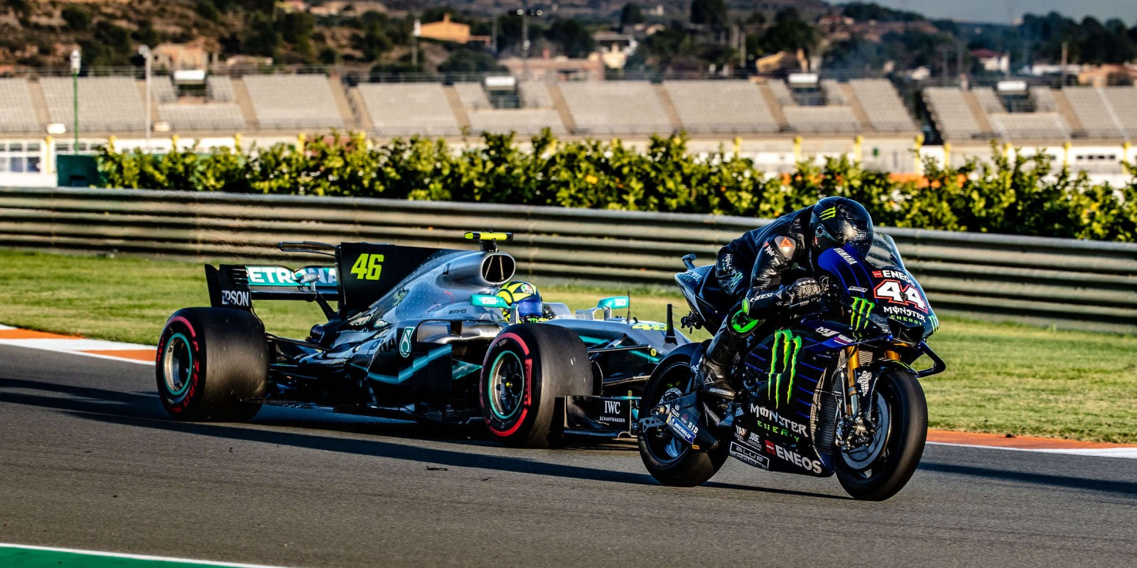 Hamilton & Rossi swap machinery in Valencia, Spain