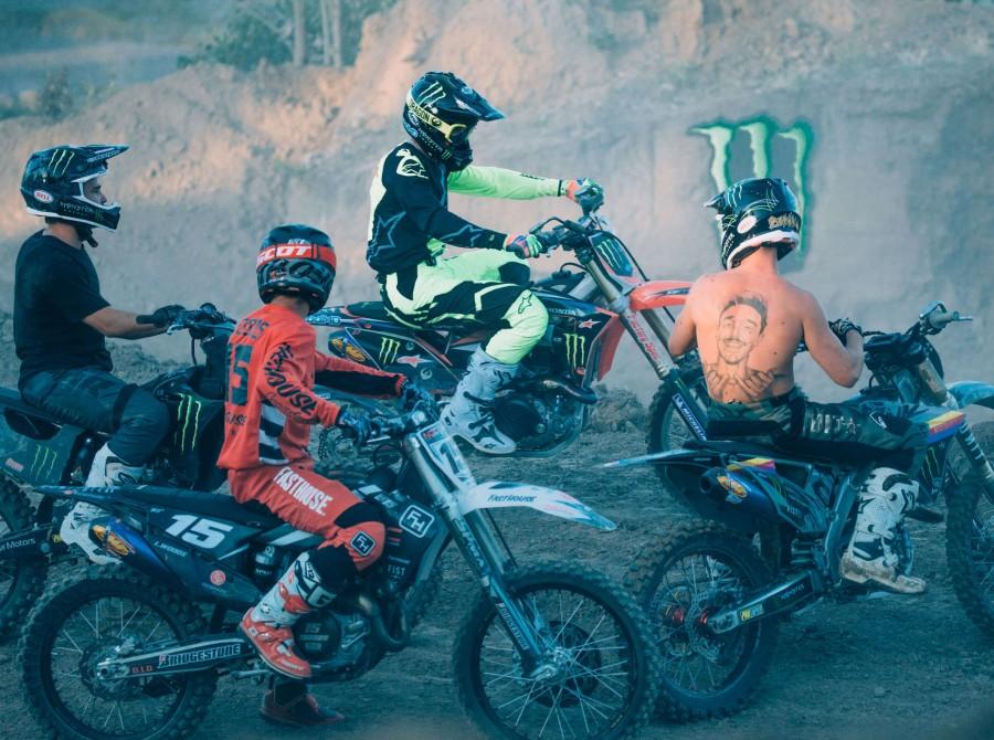 Jackson Strong's Sand Quarry FMX set up.