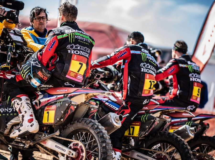 HRC during Dakar Rally