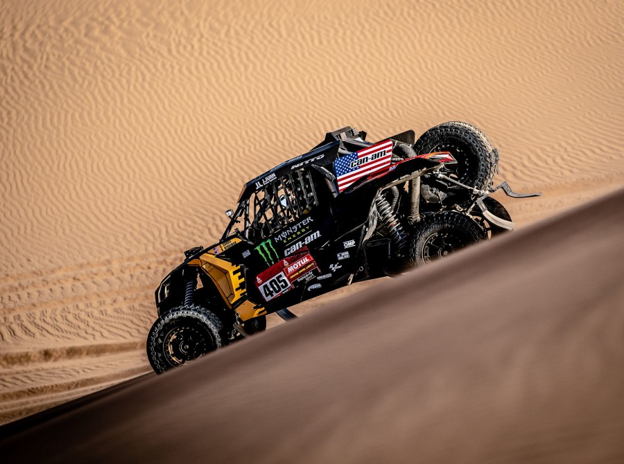 Casey Currie at the 2020 Rally Dakar in Stage 8