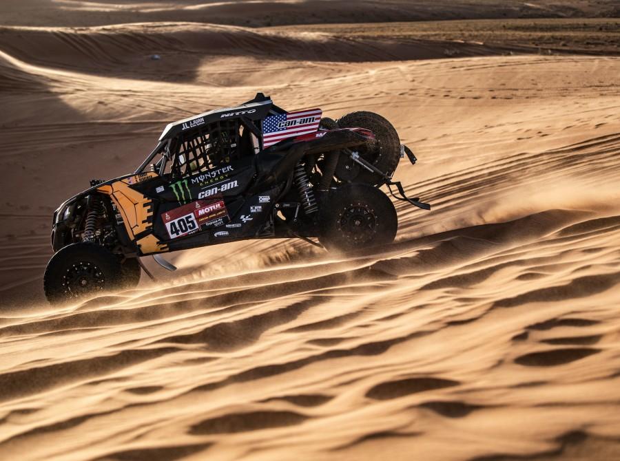 Currie during Dakar Rally