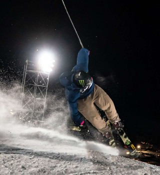 Colby Stevenson Gold Medal Ski Knuckle Huck